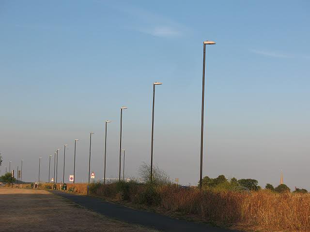 New lighting columns on Blackheath