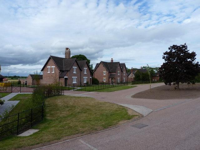 New-build semis, Burnhill Green