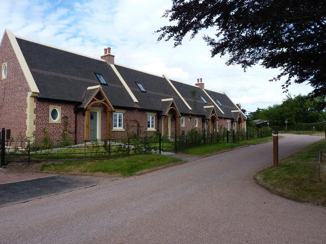 New-build almshouses, Burnhill Green