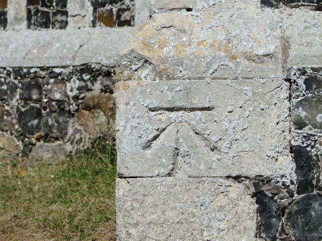 Bench Mark at Ormesby St Margaret's Church, Norfolk