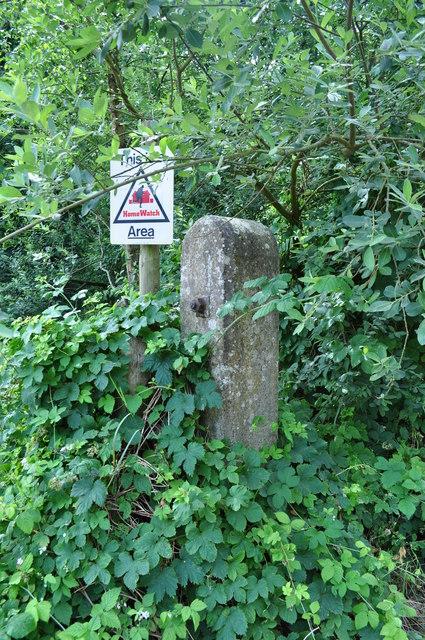 Old Concrete Post