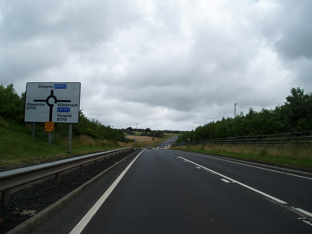 Road sign on A77