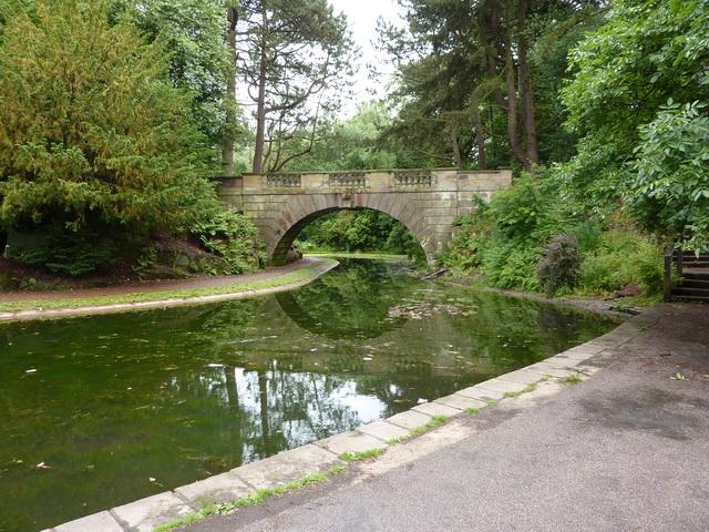 Footbridge over lake, Williamson Park