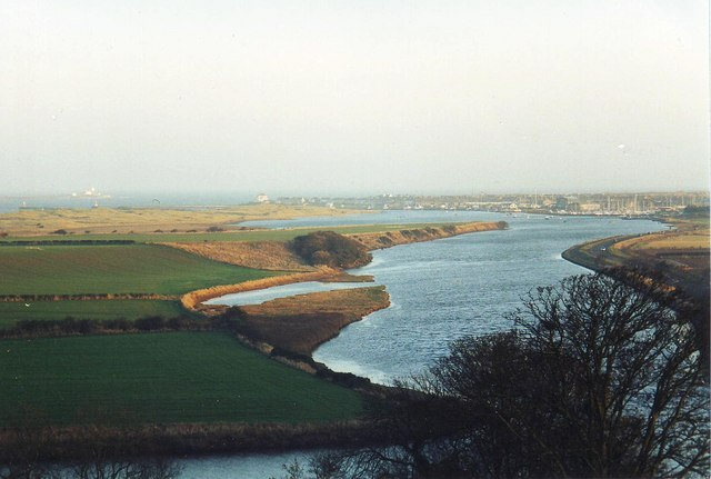 River Coquet from Warkworth Castle, Northumbria