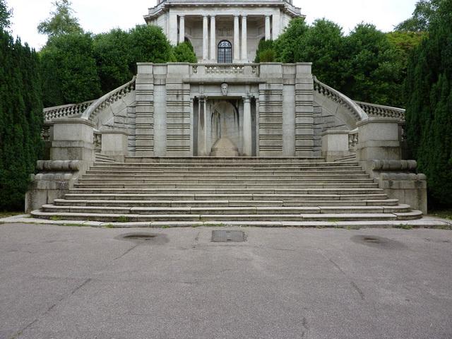 Steps below Ashton Memorial, Williamson Park