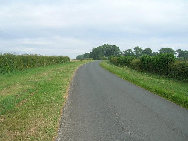 Minor road towards Cowlam Grange