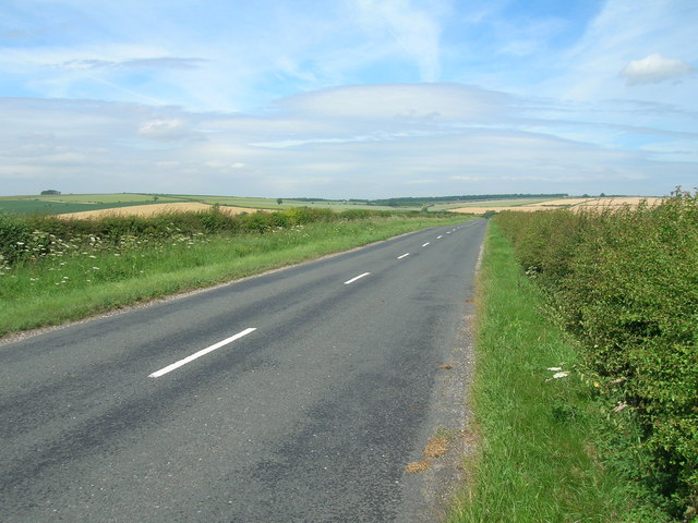 B1253 towards Duggleby