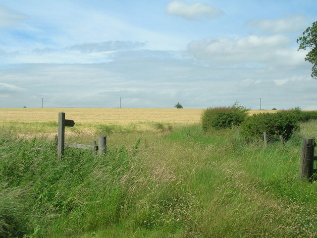 Footpath off Salents Lane, Duggleby