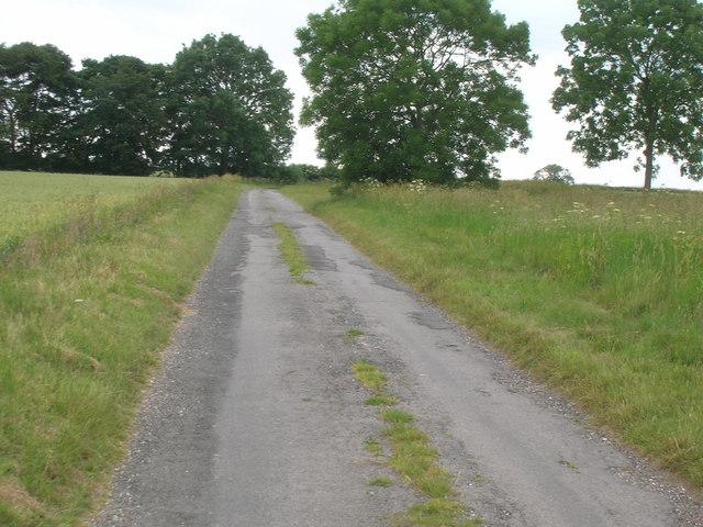Minor road towards Birdsall