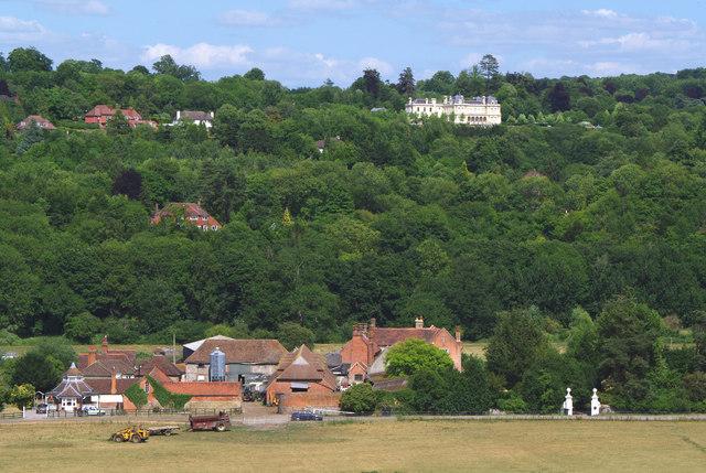 Norbury Park Farm, Mickleham Priory and Cherkley Court