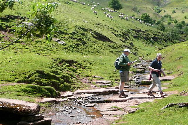 Crossing a Monnow stream