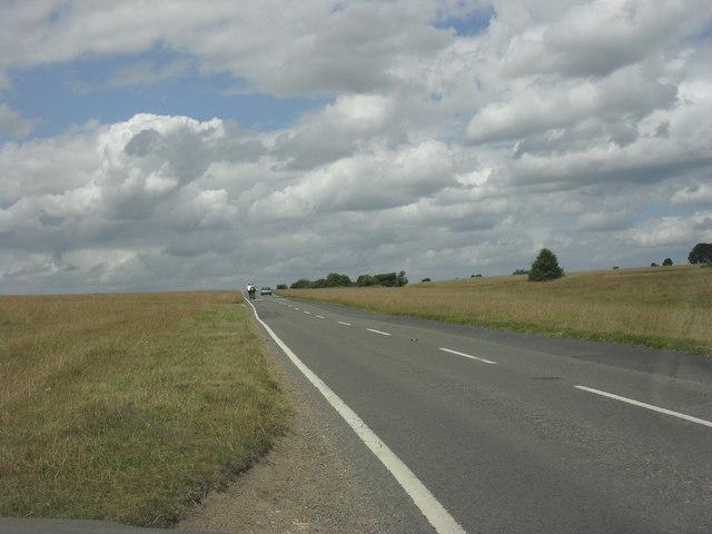 Road across Minchinhampton Common