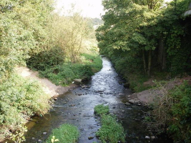 Malpas Brook flows alongside M4 motorway