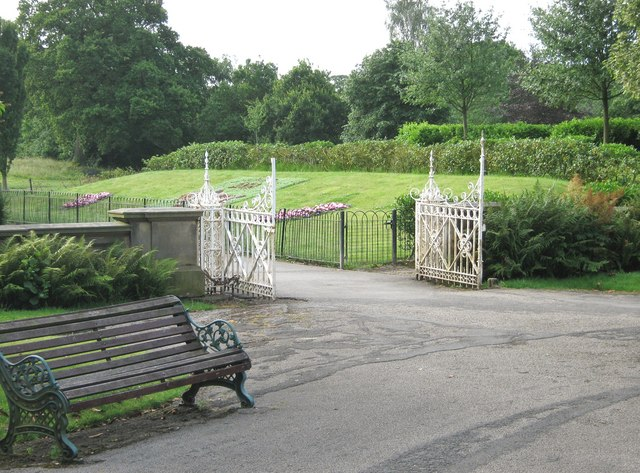 Gates to the formal gardens