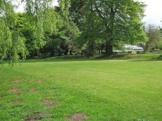 The tennis court, Worden Park