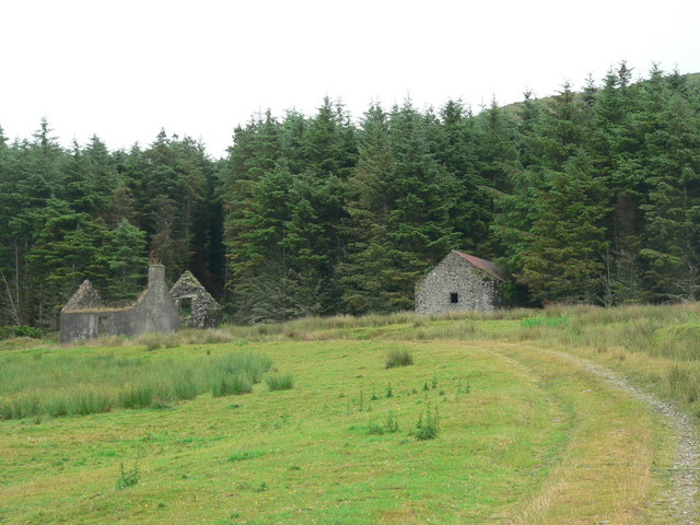 Ruined cottage and barn