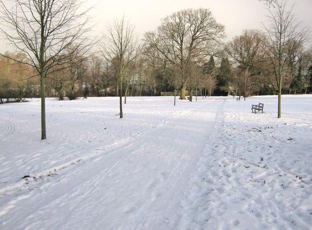 Worden Park in the snow