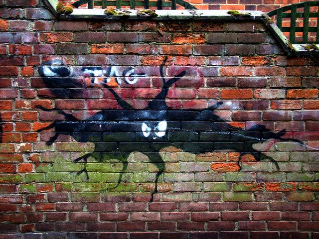 Scary graffiti