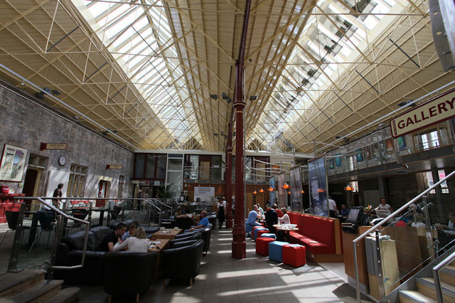 The restaurant and café-bar inside The Station