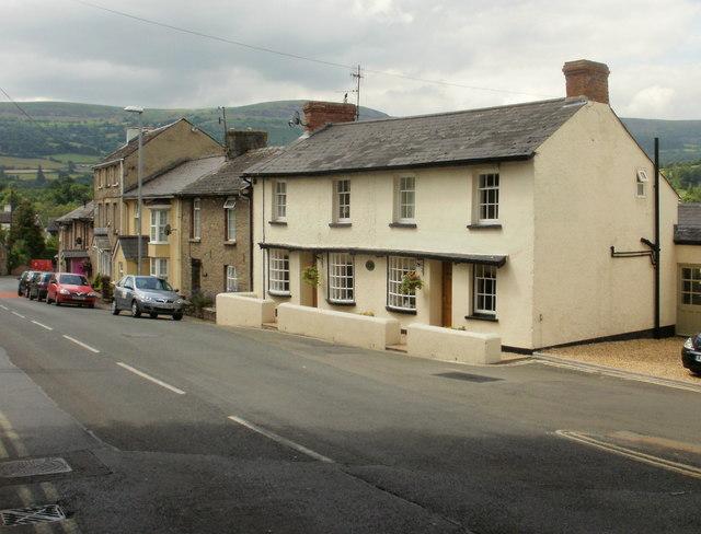 New Street houses, Crickhowell