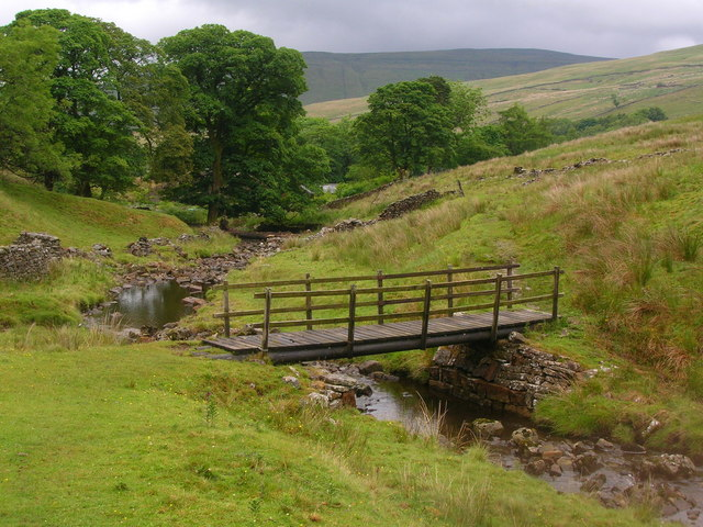 Footbridge at the head of Dent Dale