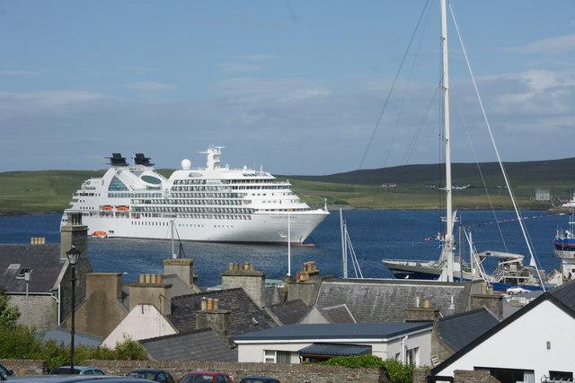 Cruise ship in Lerwick