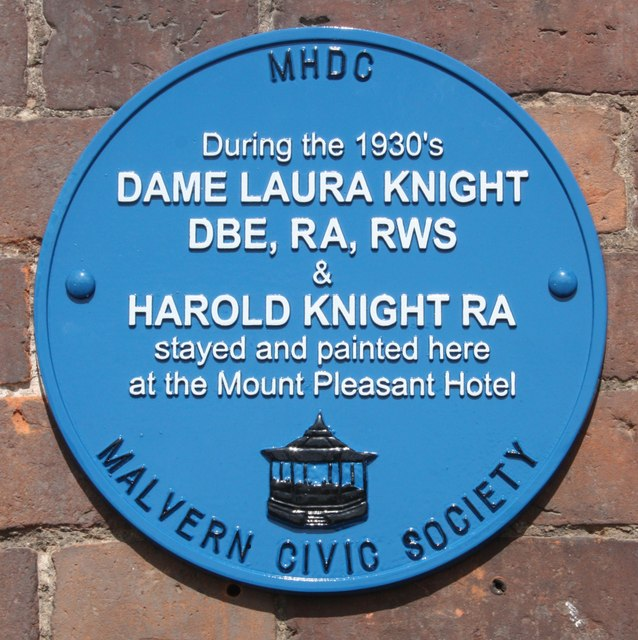 Plaque to Dame Laura Knight, Mount Pleasant Hotel
