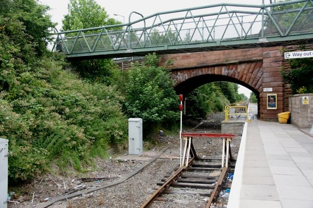 End of the electric line, Kirkby station