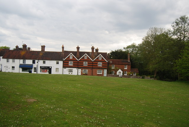 A row of cottages on the village green, Newick
