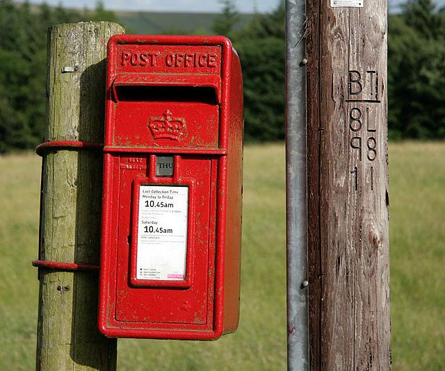 A postbox at Cavers