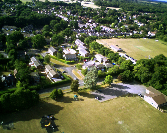 Bransgore from the air