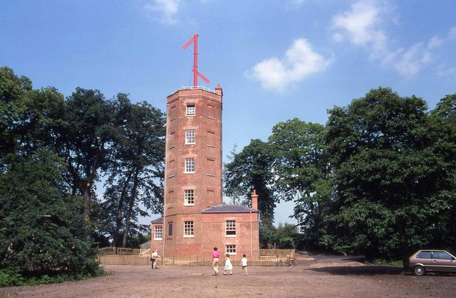 Semaphore tower at Chatley Heath