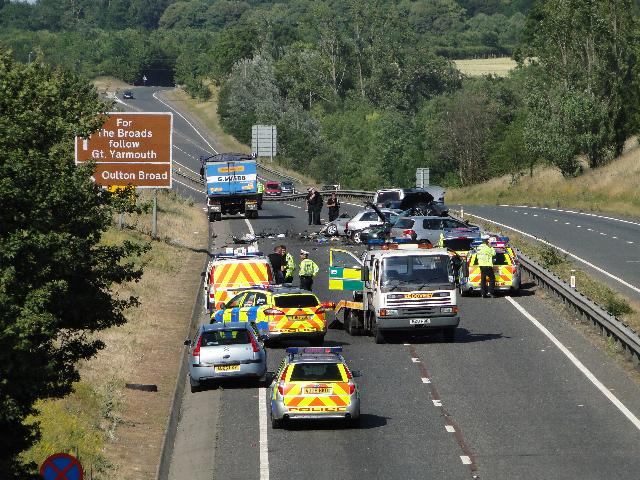 Major Accident on the A47 South of Norwich 10 July, 2010