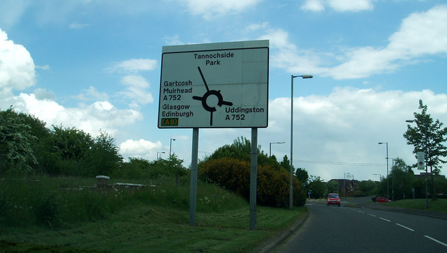 Road Sign at Tannochside