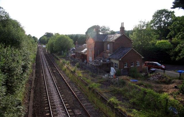 Waterloo - Exeter railway former station Dinton