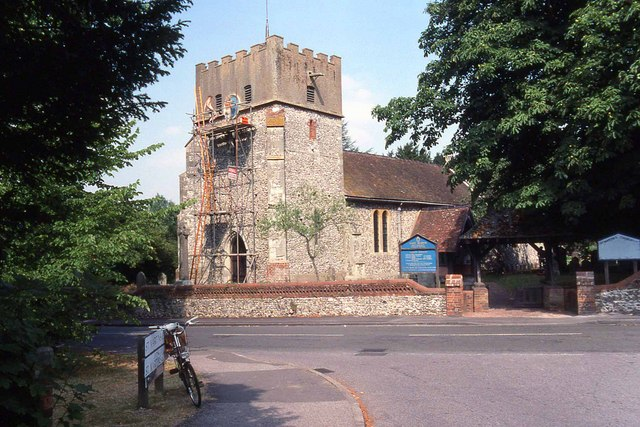 Restoration work on St Martin's Church in East Horsley