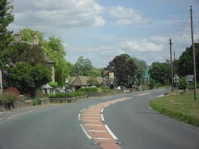 The A417 through Ampney Crucis