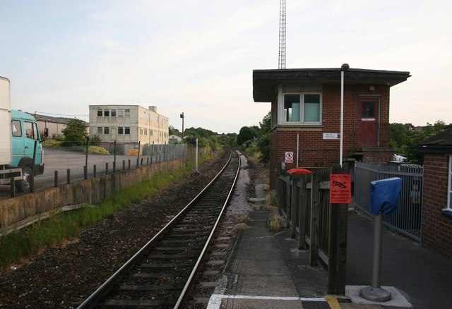 Tisbury Station and old signal box