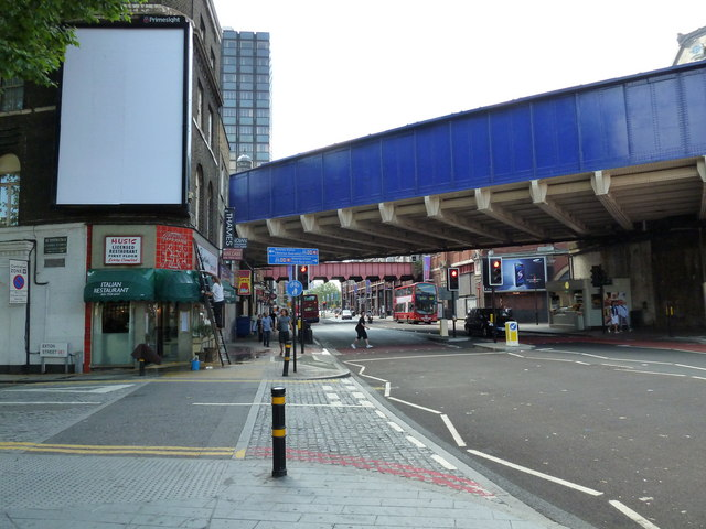 Junction of Exton Street and Waterloo Road