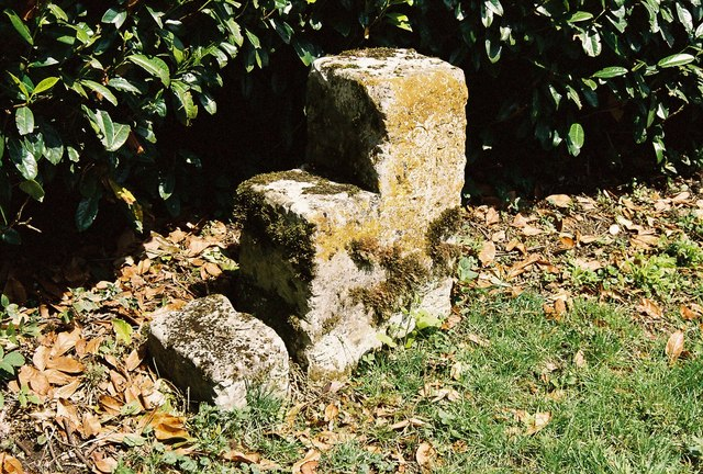 Close up of stone carriage mounting block