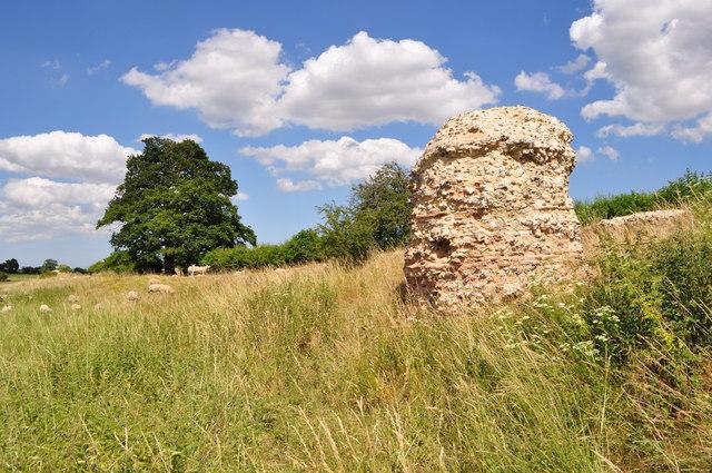 Remaining Bastion at Venta Icenorum