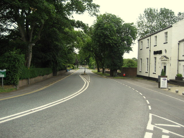 A167 outside The Croft Hotel