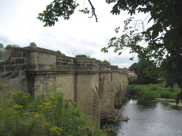 Ancient Bridge spanning the River Tees