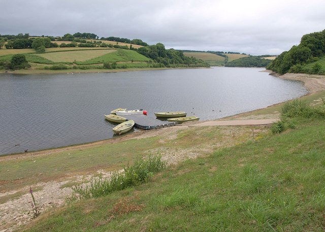 Fishing boats at Clatworthy Reservoir