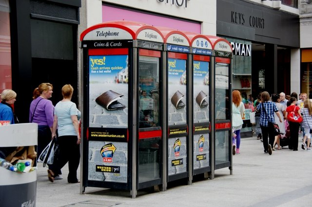 Phoneboxes, Church Street, Liverpool