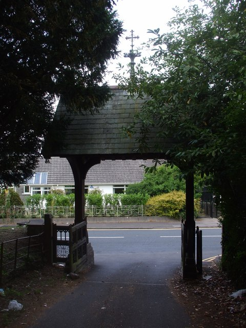 Lych-gate, St Mellons Church, Cardiff