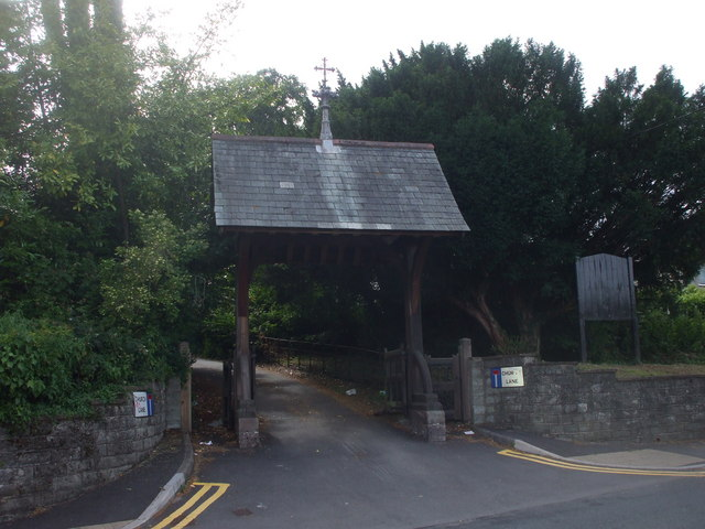 Lych gate, St Mellons Church, Cardiff