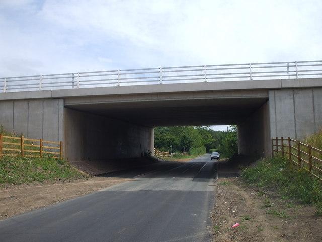 M4 bridge over Began Rd, Cardiff