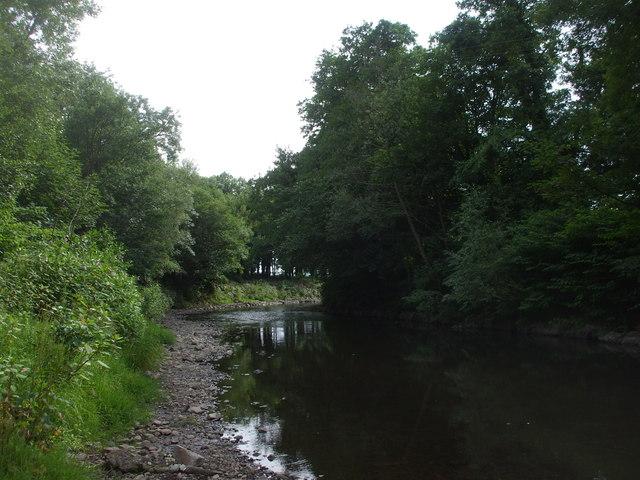 Rhymney River, north of Began, looking south