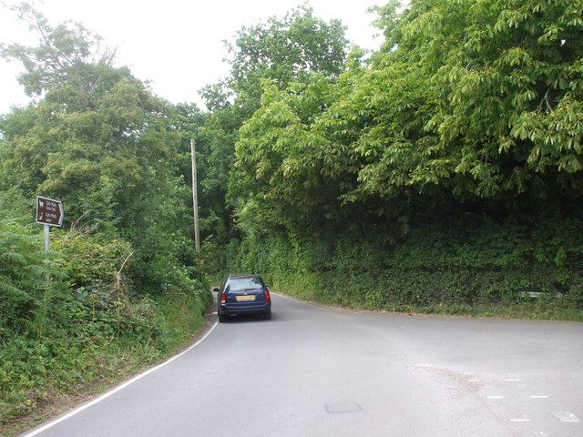 Junction of Began Rd and the road to Rudry